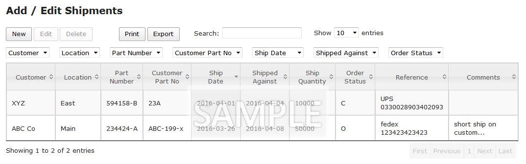 shipments-table